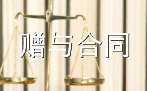 附期限动产赠与合同(二)